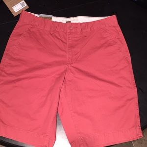 Sonoma Red Khaki Shorts 32""